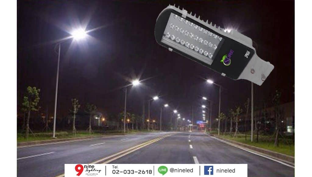 โคมไฟถนน LED Street Light 80w (วอร์มไวท์) SURE