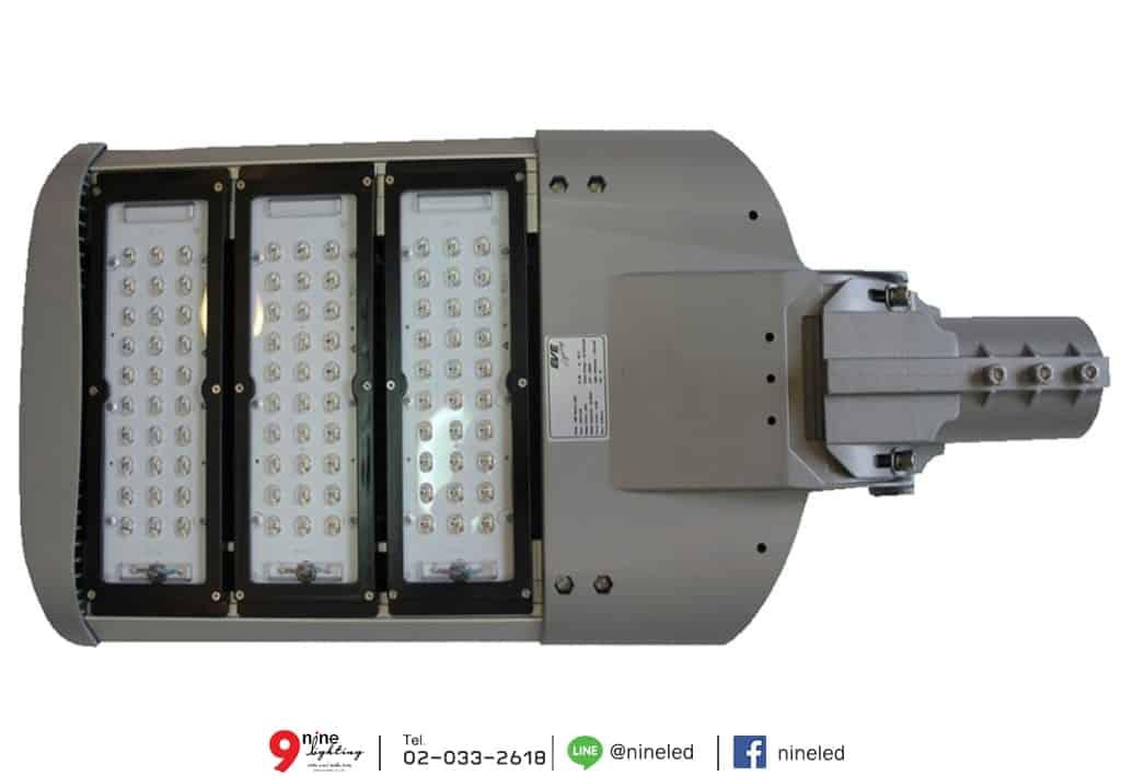 โคมไฟถนน LED Street Light 180w (วอร์มไวท์) EVE ภาพแผงด้านหน้า