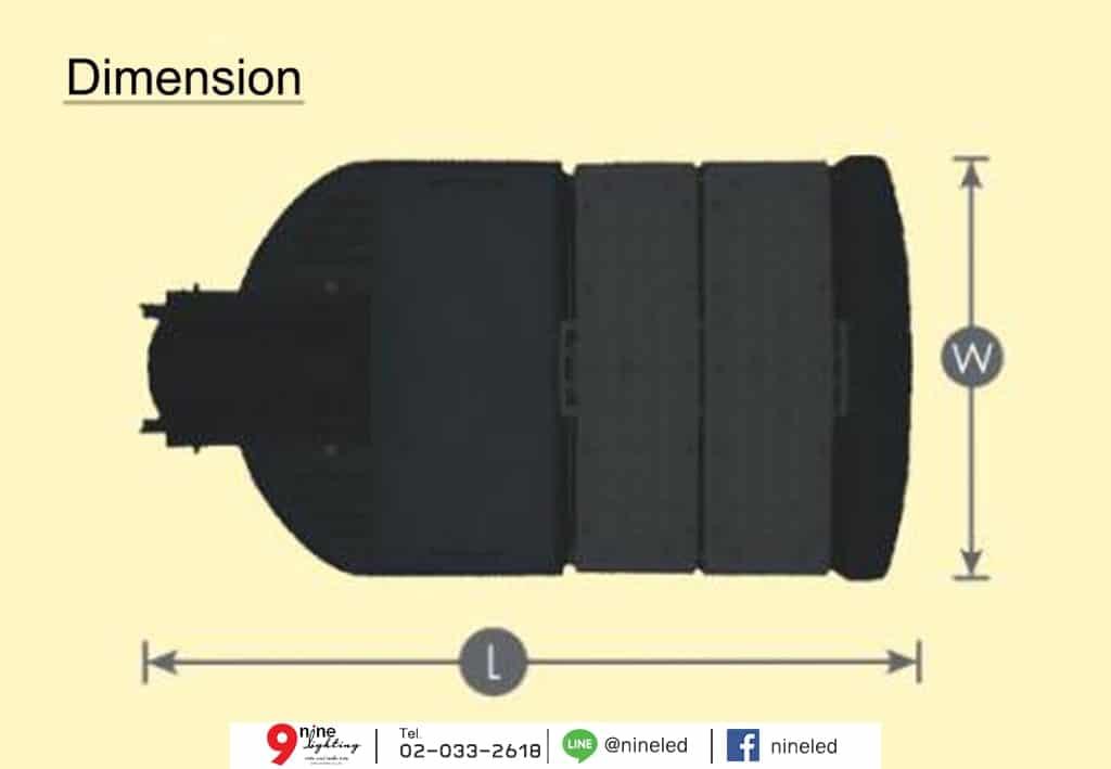 โคมไฟถนน LED 90w Module Series (เดย์ไลท์) GATA